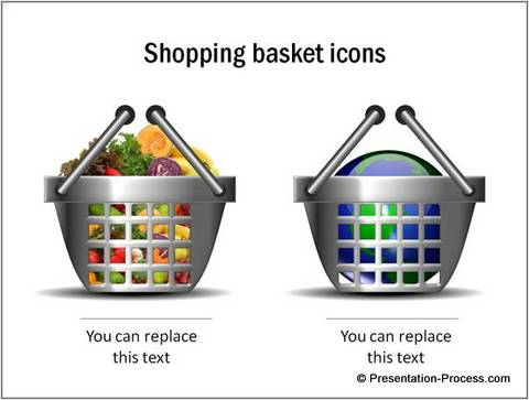 Shopping Basket Icons from Marketing Concepts