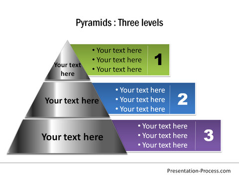 Metal PowerPoint Pyramid Diagram