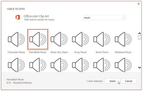 Microsoft Office Audio Clips