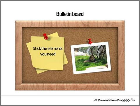 Notice Board Graphic from PowerPoint CEO Pack