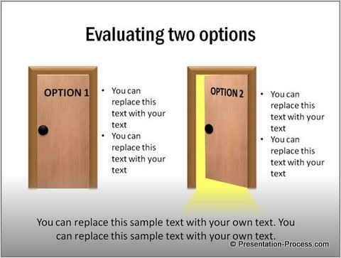 Evaluate Options PowerPoint Template