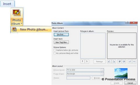 Using Photo Album option