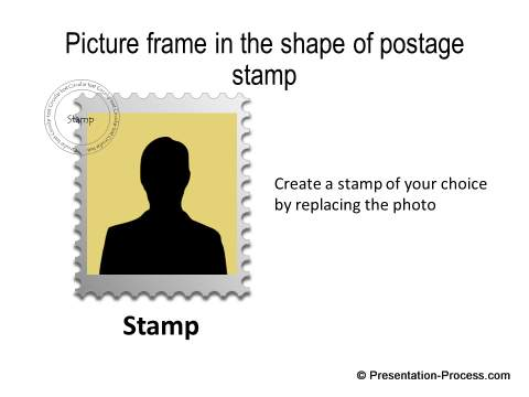 Postage Stamp frame effect with shadow