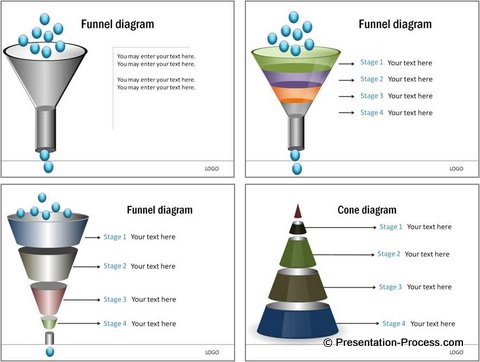 PowerPoint Funnel Diagram Templates 2007
