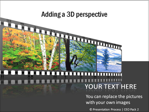 PowerPoint 3D Movie layout from CEO Pack 2