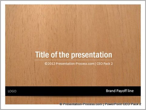 PowerPoint Title Slide with Rectangle Shape