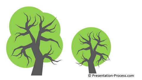 Powerpoint Bezier Curve tree Icon