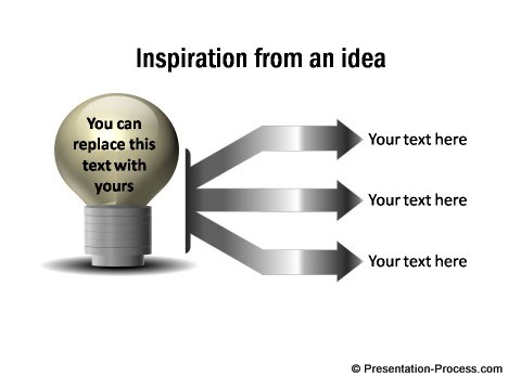 PowerPoint Bulb diagram from CEO Pack 2