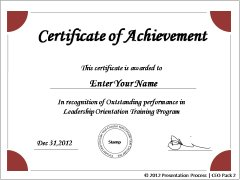 PowerPoint Certificates More Certificate Of Achievement Templates