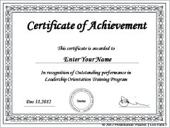 Elaborate Certificates in PowerPoint