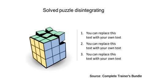 PowerPoint Cube Puzzle