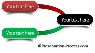 simple decision tree in PowerPoint: