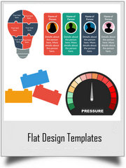 Flat Design Templates Pack