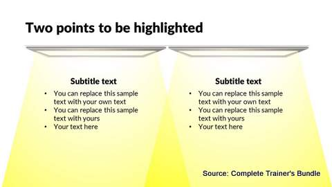 PowerPoint List with Highlight