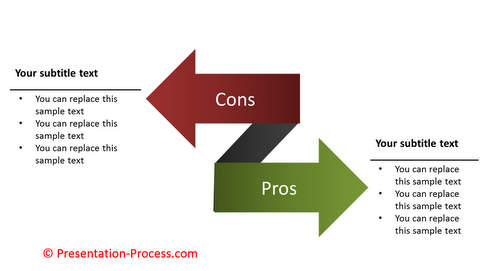 PowerPoint Pros and Cons Arrows