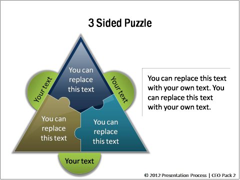3 Sided PowerPoint Puzzles