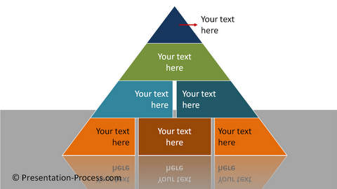 PowerPoint Pyramid Segmented
