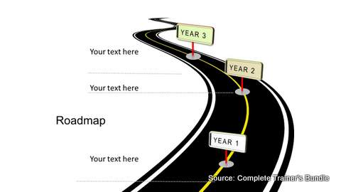 PowerPoint Curved Roadmap