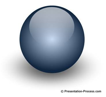 powerpoint slides design make a glossy ball