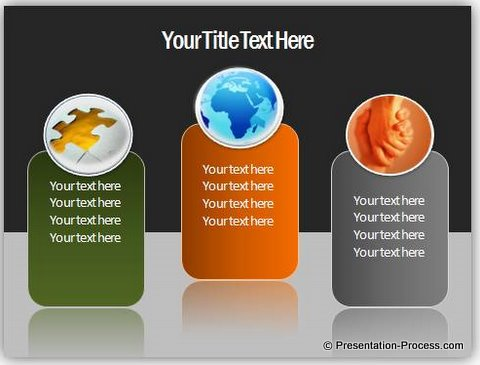PowerPoint slide with reflection