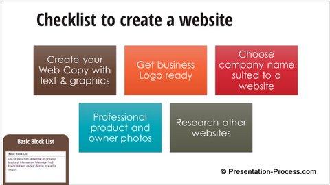 PowerPoint SmartArt List Graphics Templates