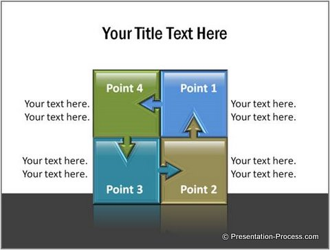 PowerPoint Template Diargams Quadrants