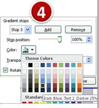PowerPoint Tutorial Stop Position for color