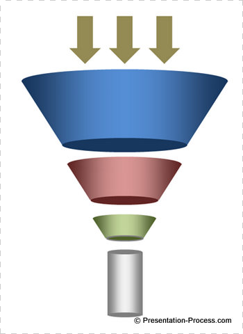 secret to creating an attractive funnel diagram fast, Modern powerpoint