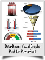 320+ Visual Data-Driven Graphs for PowerPoint