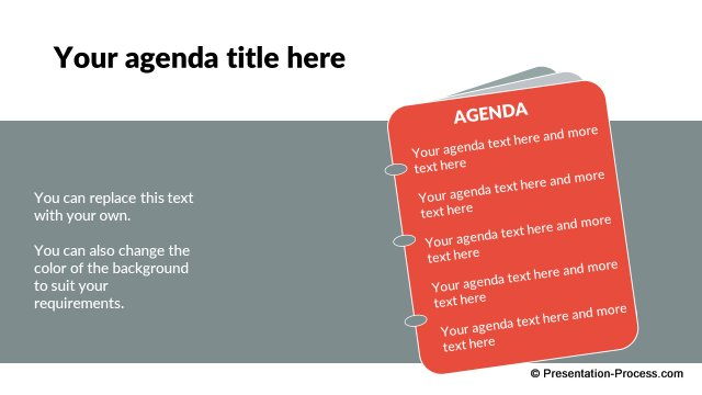 Opening Agenda Slide in Flat Design