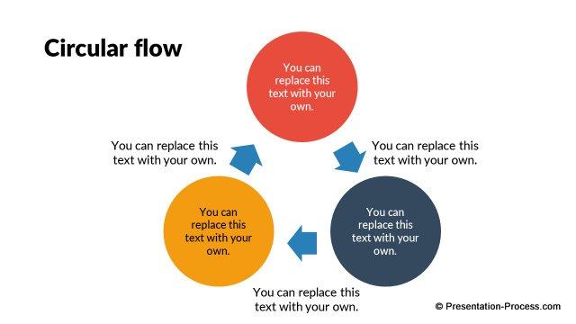 flat design templates: powerpoint circle, Modern powerpoint