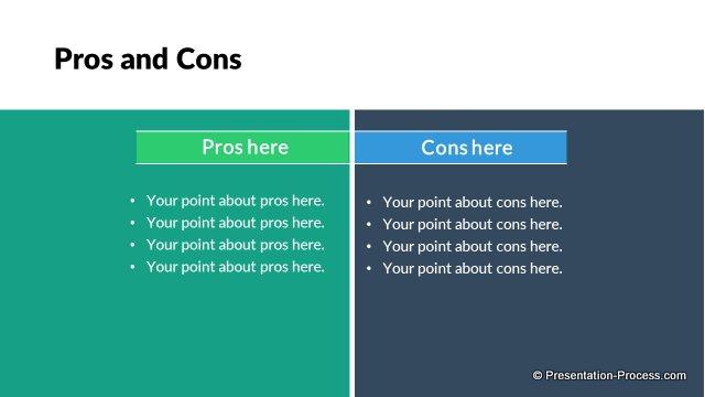 flat design templates  powerpoint comparison