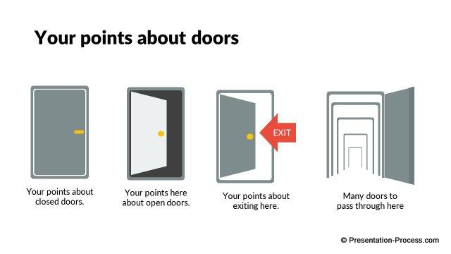 Business Door Icons  sc 1 st  Presentation Process & Flat Design Templates: PowerPoint Business Icons pezcame.com