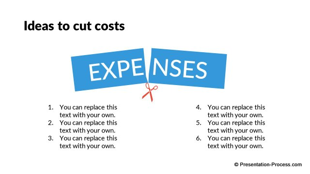 Cutting expenses ideas