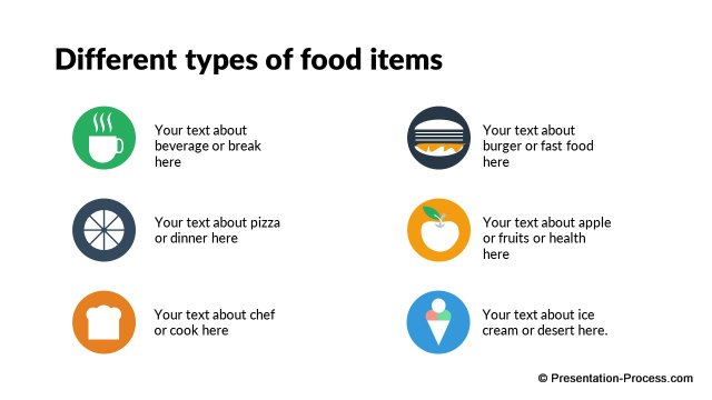 Food Types Icons