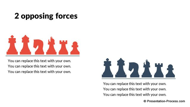 2 Opposing Forces with Chess metaphor