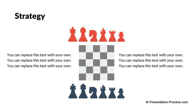 Strategy metaphor : Chess board