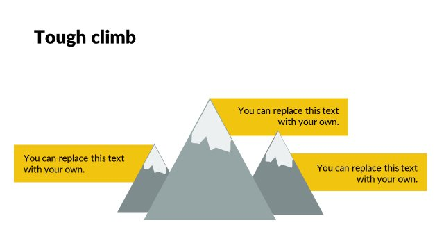 Tough climb with 3 levels