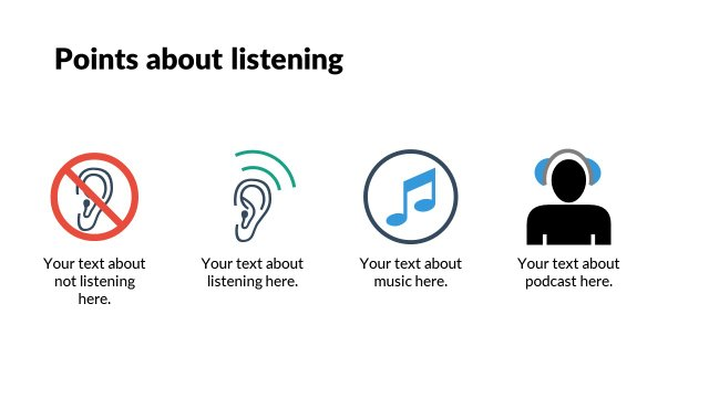 Points about listening