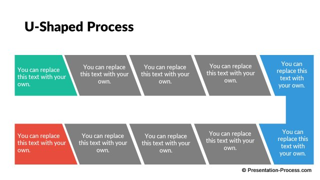Process Diagram in Flat Design