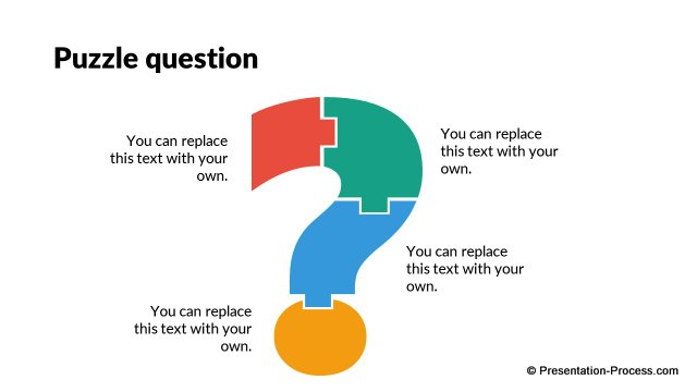 Editable question puzzle in PowerPoint