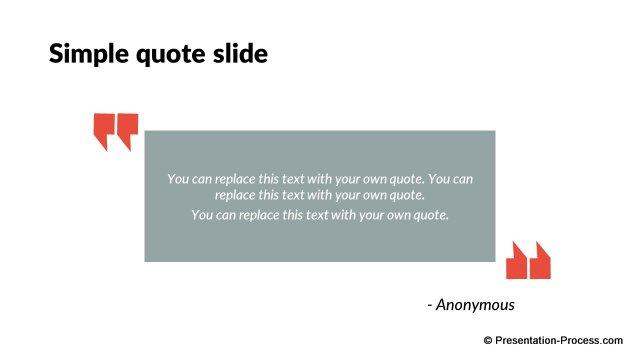 Flat design templates powerpoint opening slides simple quote template toneelgroepblik Choice Image
