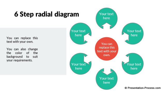 flat design templates for powerpoint circle : radial diagram - findchart.co
