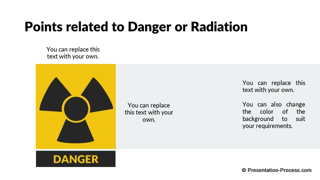 Danger or Radiation Sign