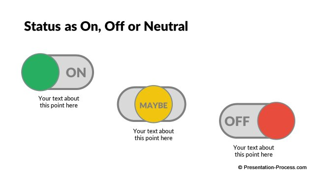 On, Off & Neutral buttons