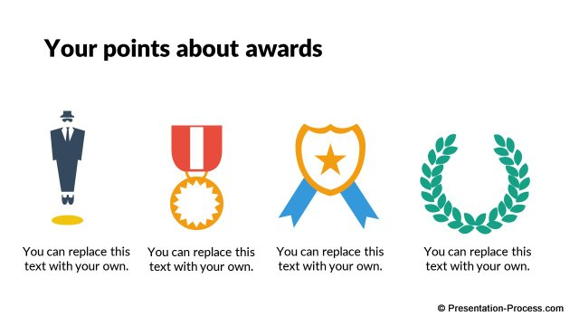Types of Awards Icons