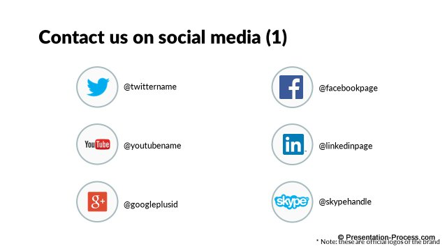 Contact us on Social Media