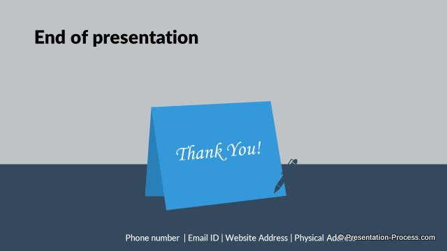 flat design templates powerpoint closing slides