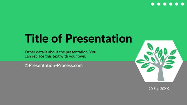 Green Title Slide