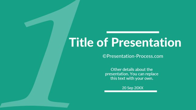 Flat design templates powerpoint title slide title slide for number 1 pronofoot35fo Image collections